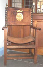 chair with leather seat after conservation